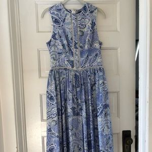 Cynthia Rowley paisley floral maxi dress